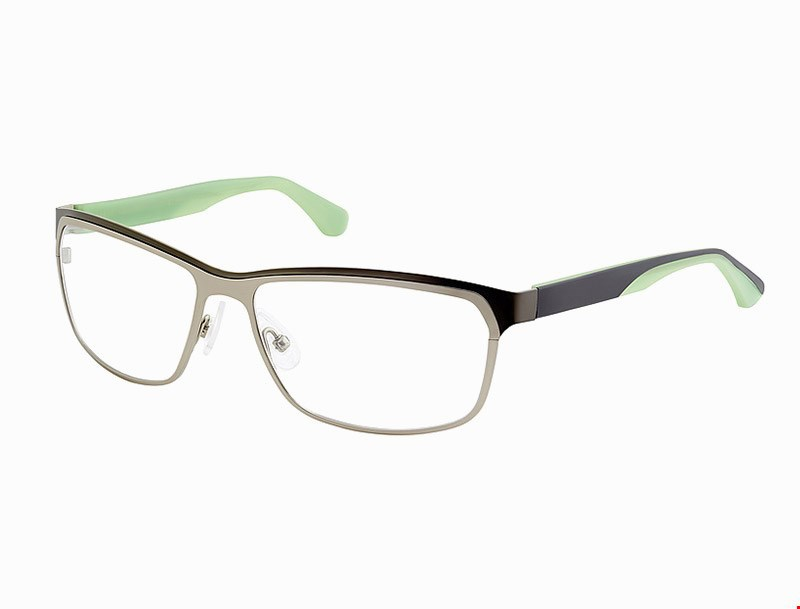 Curved eyeglasses frames