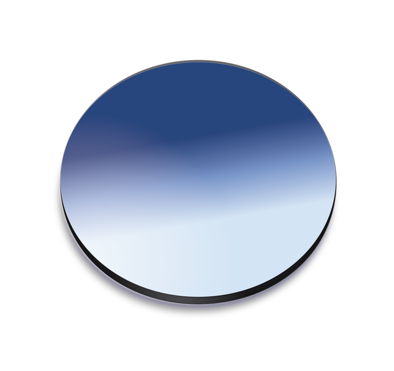 Blue gradient coloured lens