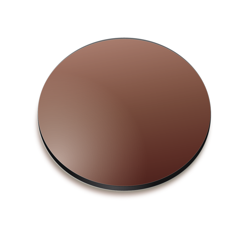 Brown gradient coloured lens