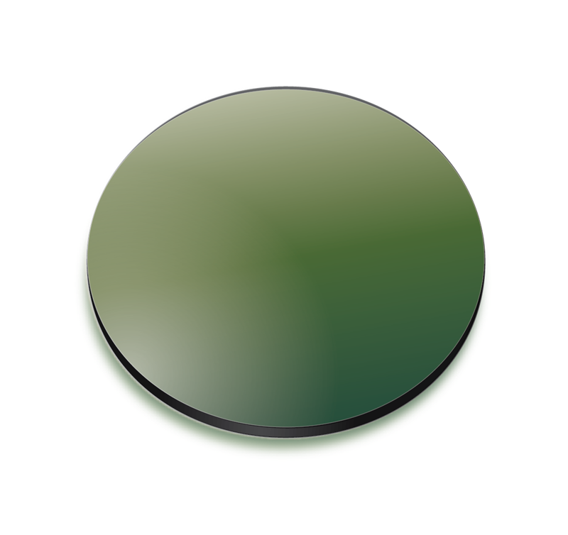 Green gradient coloured lens