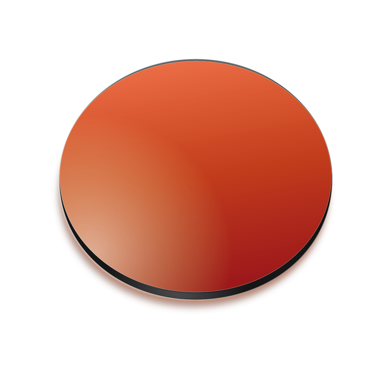 Red gradient coloured lens