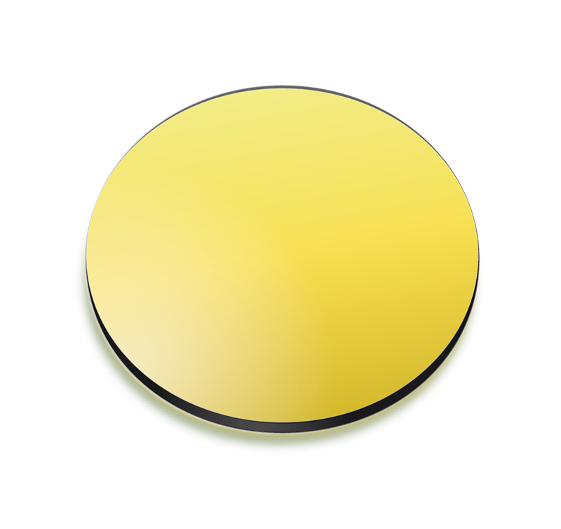 Yellow gradient coloured lens