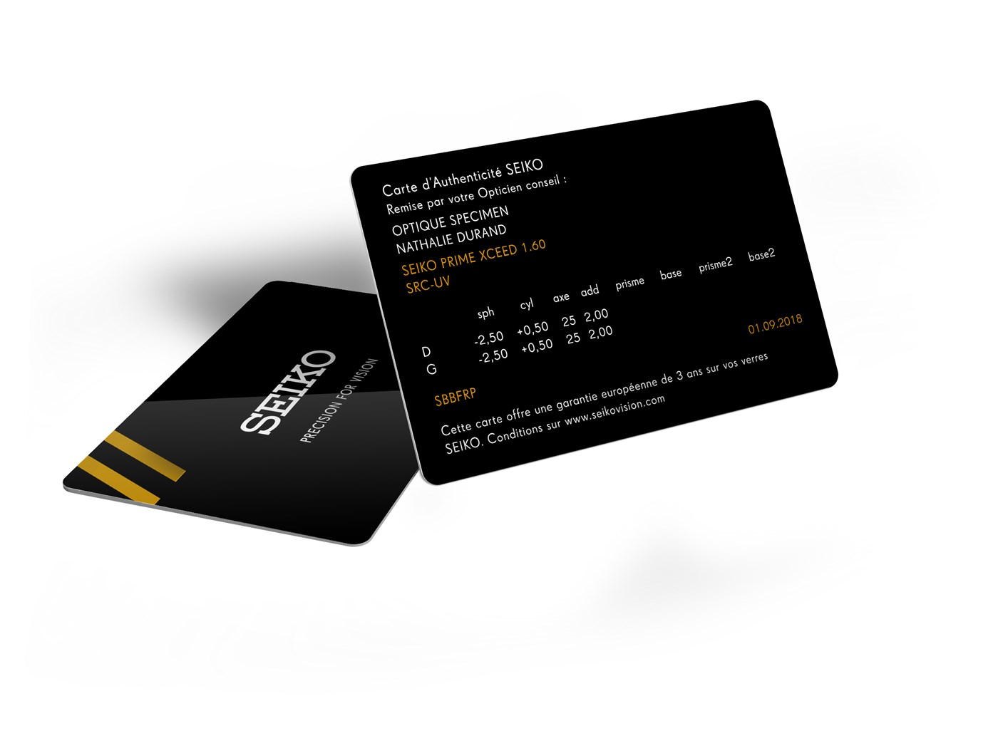 SEIKO information card